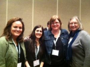 From left: Jessica Ellis Laine, Cathlene Buchholz, Lori Rader-Day, & Sherry Roberts