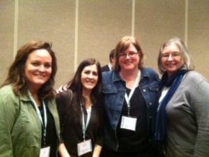 From left: Jessica Ellis Laine, Cathlene Buchholz, Lori Rader-Day, & Sherry Roberts